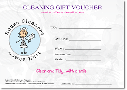 House Cleaners Lower Hutt Gift Voucher